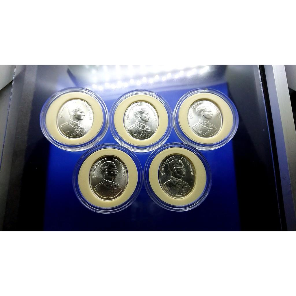 เหรียญพระพุทธปัญจภาคี (รัชกาลที่ 9) ที่ระลึก เนื้อเงิน พิมพ์ใหญ่ ครบชุด 5 เหรียญ พร้อมตลับ