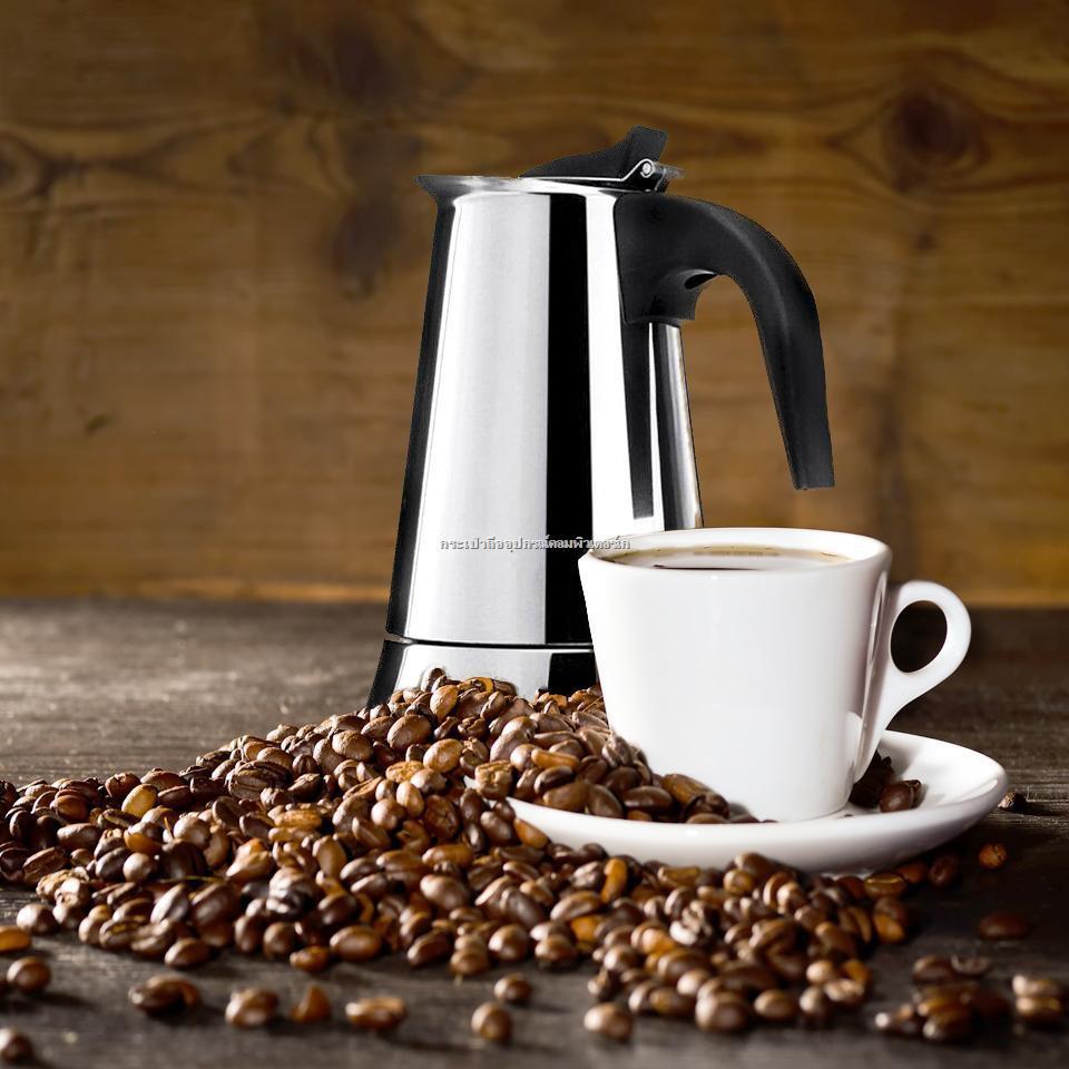 อุปกรณ์อิเล็กทรอนิกส์✐﹊หม้อต้มกาแฟ เครื่องชงกาแฟสด เครื่องชงกาแฟ เครื่องทำกาแฟสด