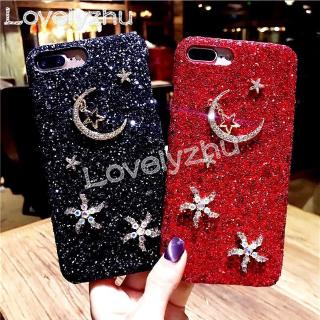 Review Stars Moon Diamonds Case OPPO A5 2020 A9 2020 F11 Pro A9 F11 A7 A5S Bling Flash powder Hard Cover