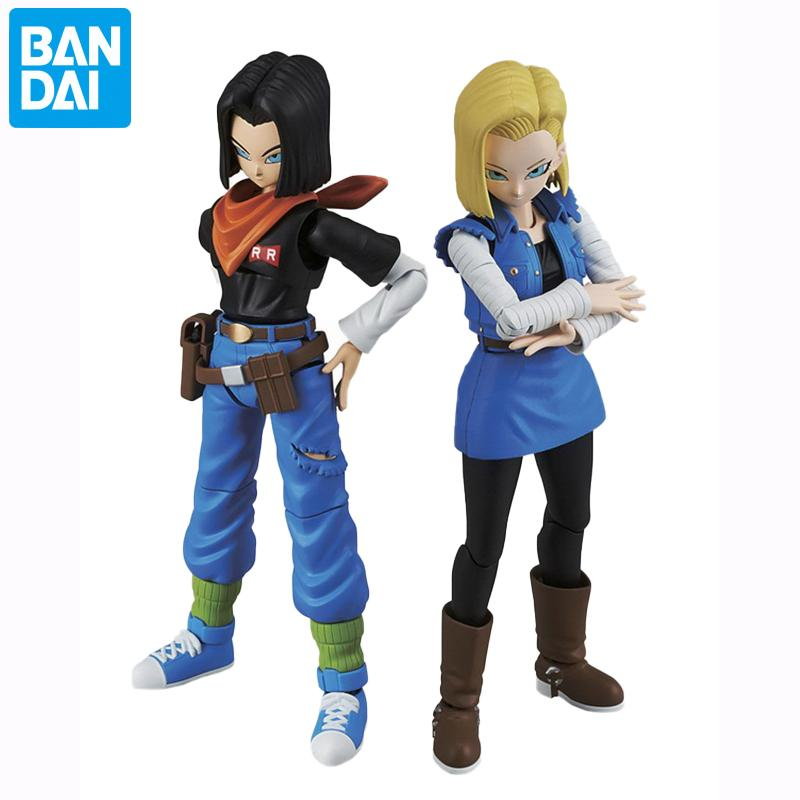 Bandai Dragon Ball Z Figure Rise Android 17 Android 18 Action vc Collection Model Toy Anime Figure Toys for Kids