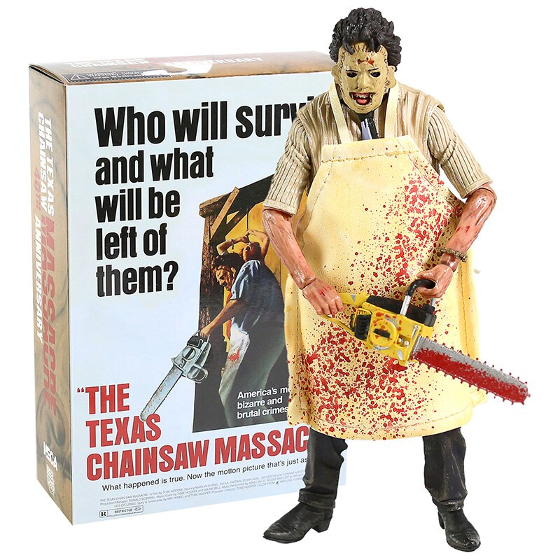"NECA Texas Chainsaw MASSACRE PVC Action FIGURE ของเล่นสะสม 7 ""18 ซม"