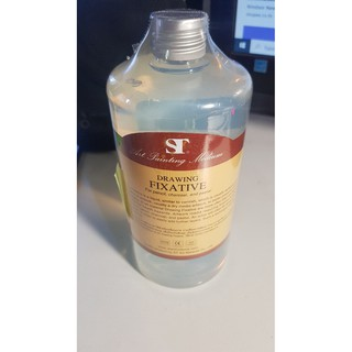 ST drawing fixative น้ำยาเคลือบภาพสเก็ต for pencil charcoal and pastel  100/250/500 ml