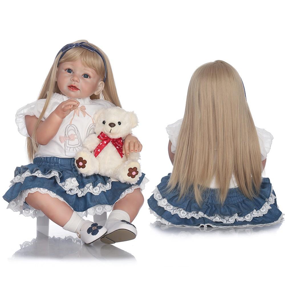 26/'/' Diy Reborn Baby Boy Gilr Doll Kit Mold Silicone Handmade Toddler Kits Gift