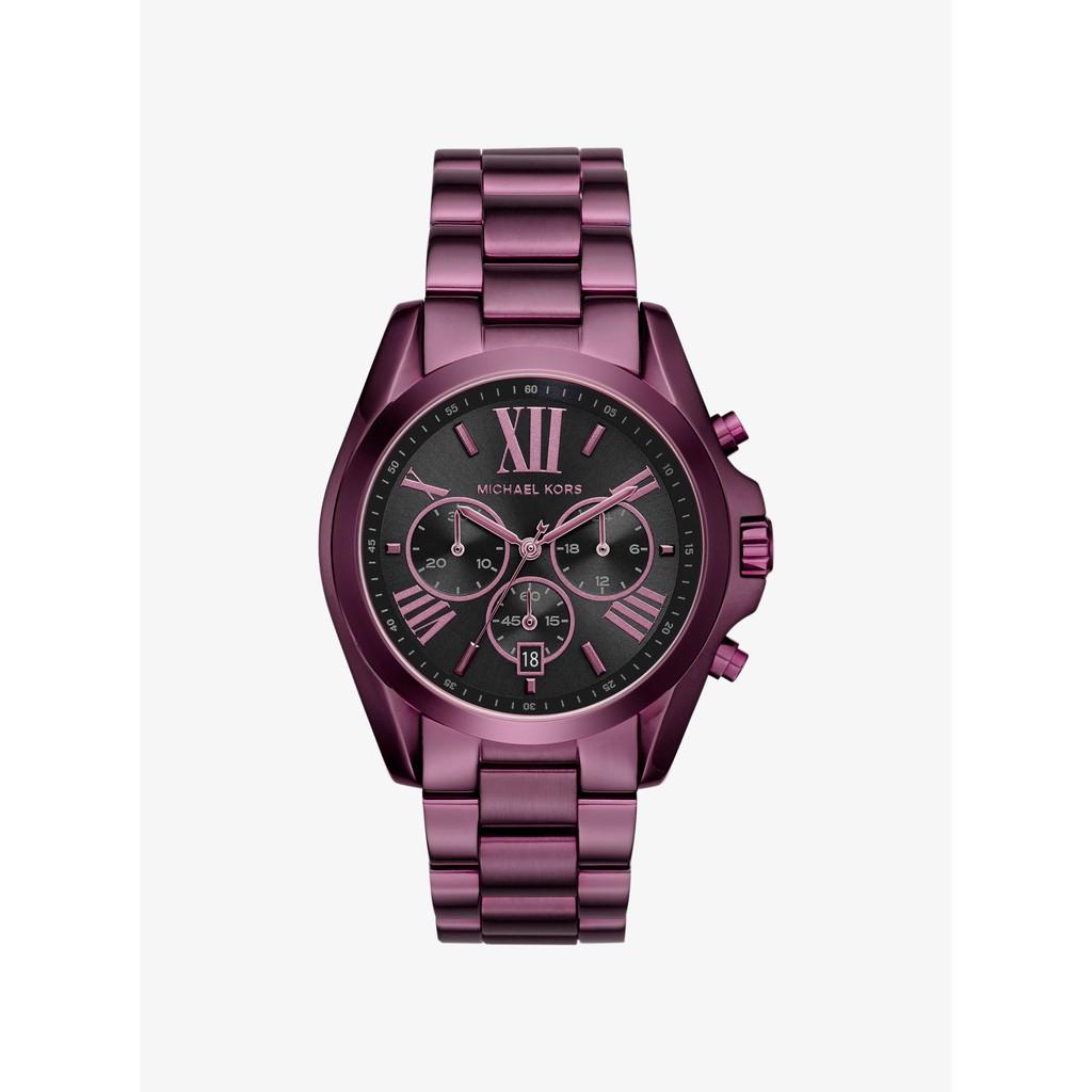 b347a1a36d67 Michael Kors Black Mini Bradshaw Chronograph Stainless Steel Ladies Watch  MK6058