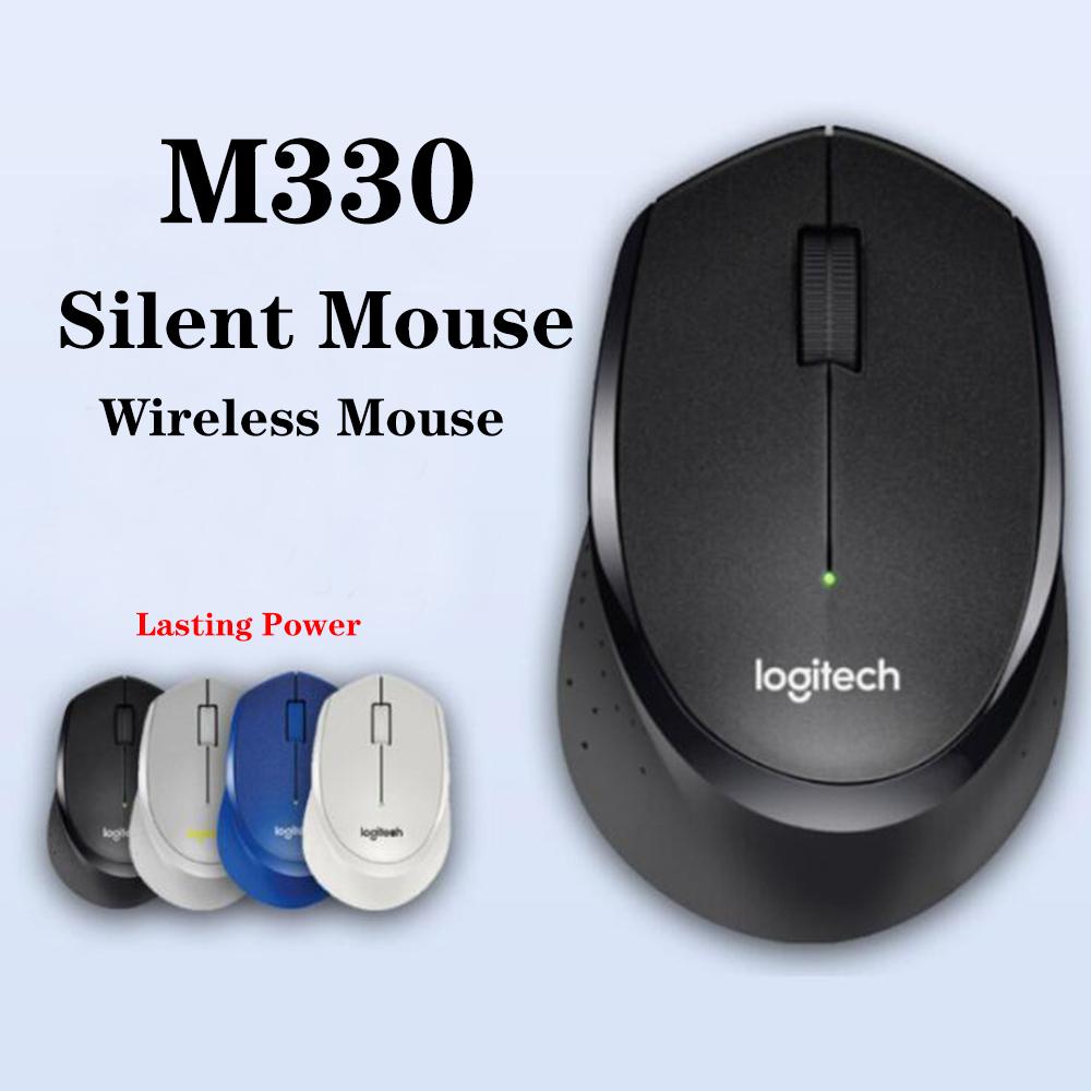 Logitech M 330 เมาส์ Logitech M 330 ไร้สายพร้อม Usb
