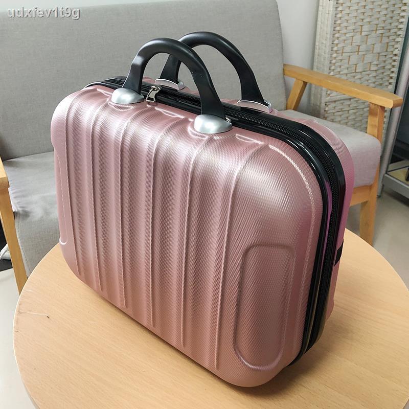 ง่ายต่อการพกพากระเป๋าเครื่องสำอางค์๑▨♝กระเป๋าเดินทางขนาดเล็ก กระเป๋าเดินทางหญิงน่ารักกรณีเครื่องสำอาง14นิ้วขนาดเล็กและเบ
