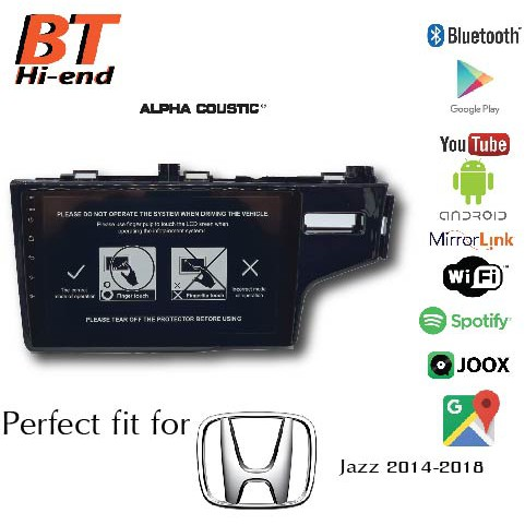 ALPHA COUSTIC Android ตรงรุ่น Honda Jazz 2014-2018
