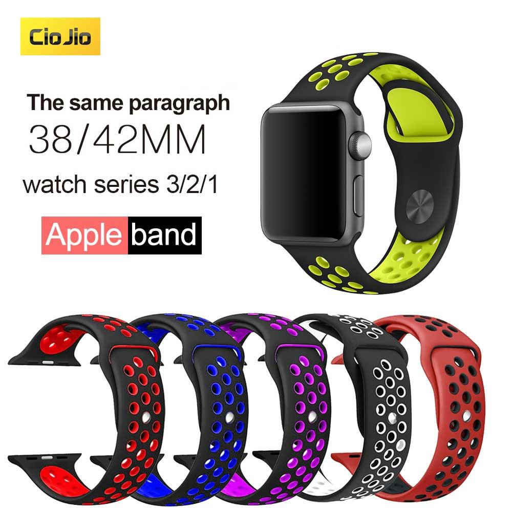 Apple Watch Band สายซิลิโคนสปอร์ตสำหรับ IWatch Series5/4 3/2/1