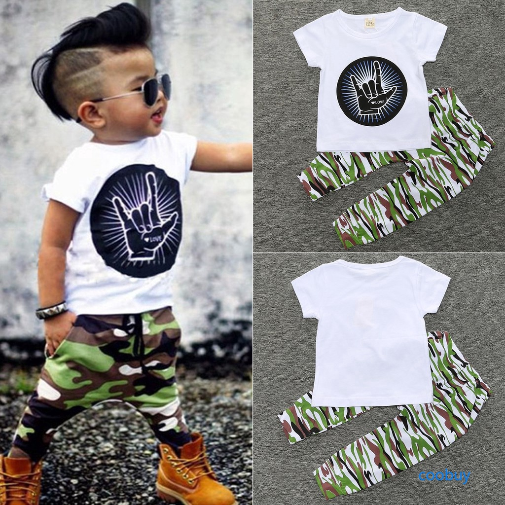 Cool Baby Boys Toddler Dinosaur Clothes Long Sleeve T-shirt Pants 2PCS Outfit US