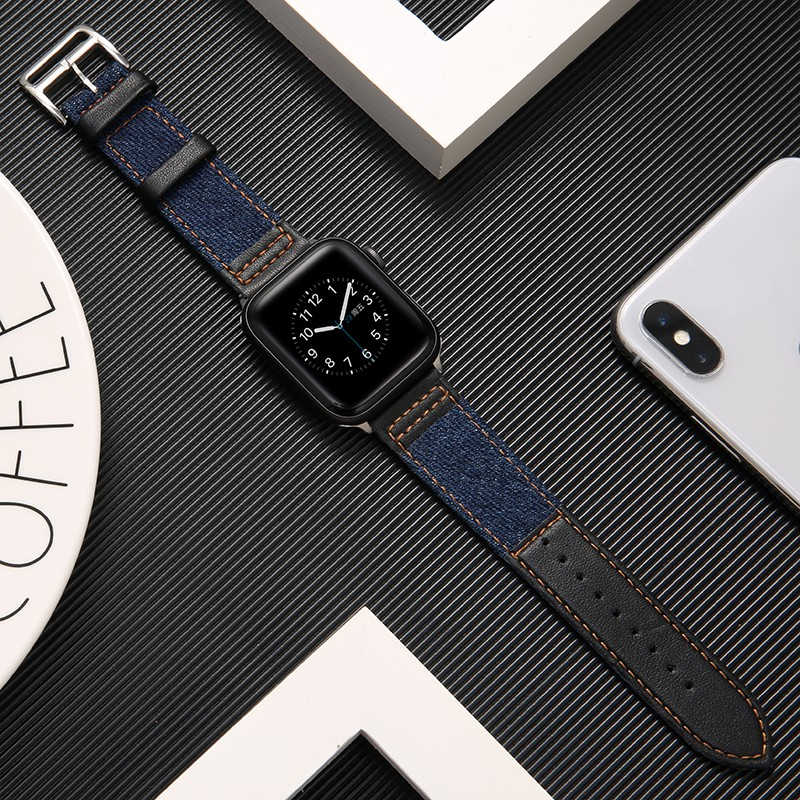 💖iwatch strap💖สายรัด iwatch ที่ใช้งานได้หนัง applewatch 1/2/3/4/5 รุ่นสายนาฬิกาแอปเปิ้ลเปลี่ยนสายหญิง 38mm42 ชาย 44mm40 น้ำใหม่ iphone series5 สาย s3