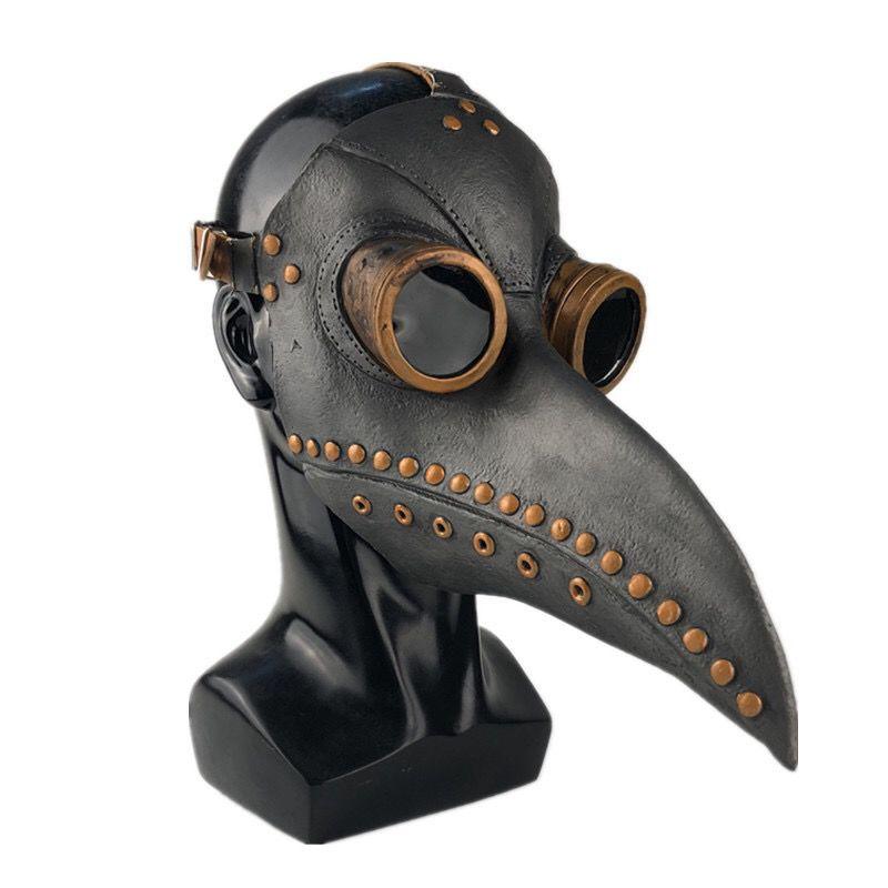 หน้ากาก หน้ากากฮาโลวีนฮาโลวีนCOSเสื้อผ้าอบไอน้ำพังก์ยุคกลางอุณหภูมิตัวเมียแพทย์จะงอยปากหน้ากาก SCP049สีดำอีกาหมวก