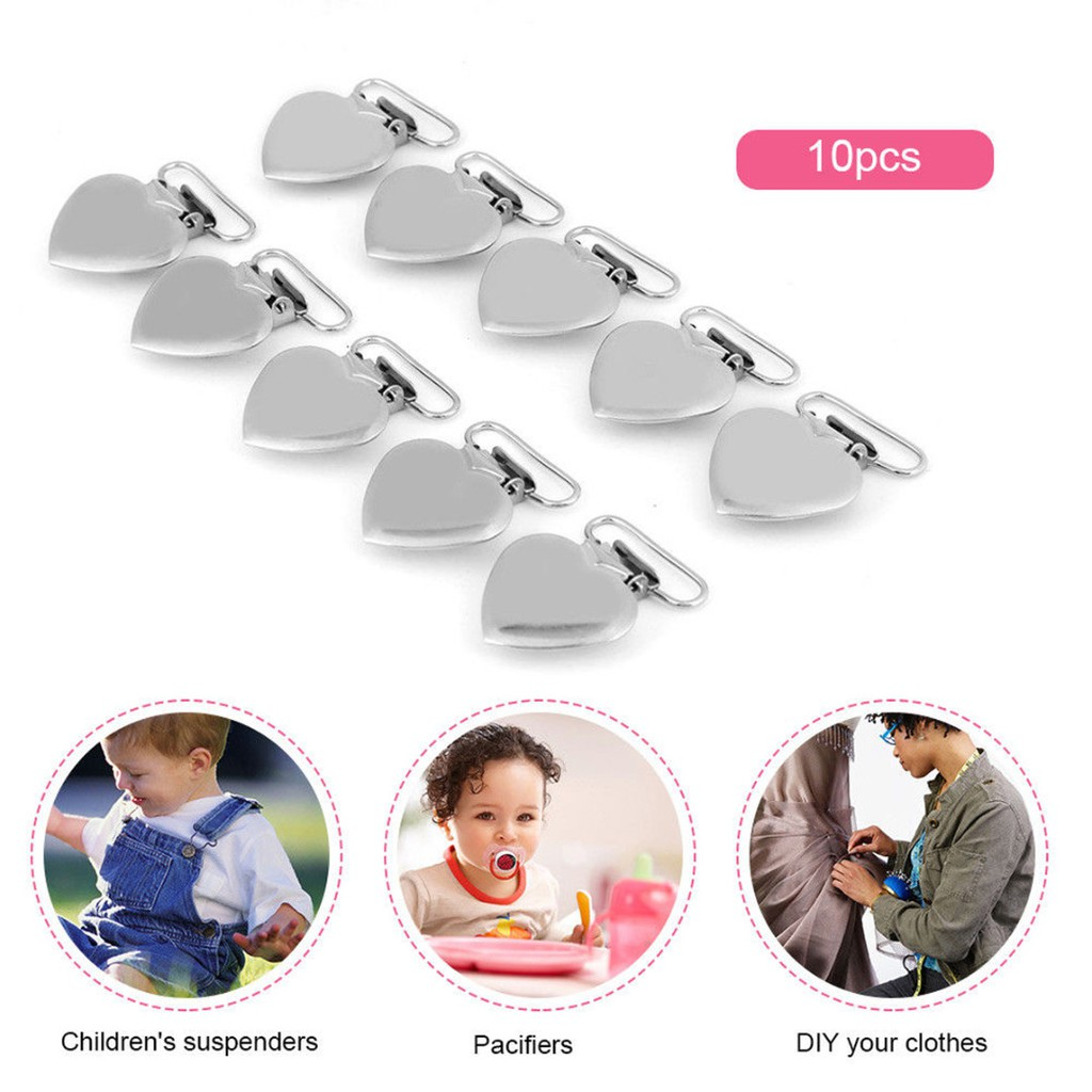10pcs Plastic Suspender Soother Pacifier Holder Dummy Clips For Baby Kids/_