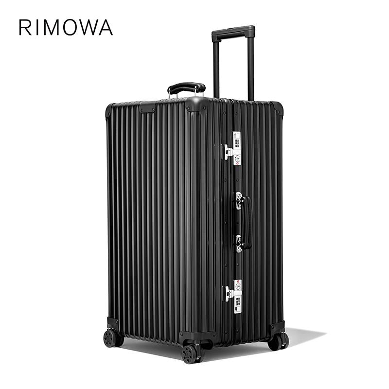 ♨≍[ใหม่] rimowa/rimiwa CLASSIC trunk31นิ้วกระเป๋าเดินทางล้อลากโลหะคลาสสิก