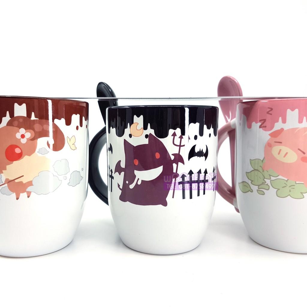 แก้วเซรามิกครบชุดสามใบ (ไม่แยกขาย) ลายตัวละครในเกมส์Ragnarok Online จากงาน EXG2018 Premium Shop