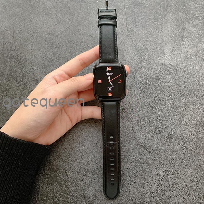 🚍⛳สายนาฬิกาข้อมือหนังวัวแท้สําหรับ applewatch applewatch 6 / 5 / 4 / 3 / se