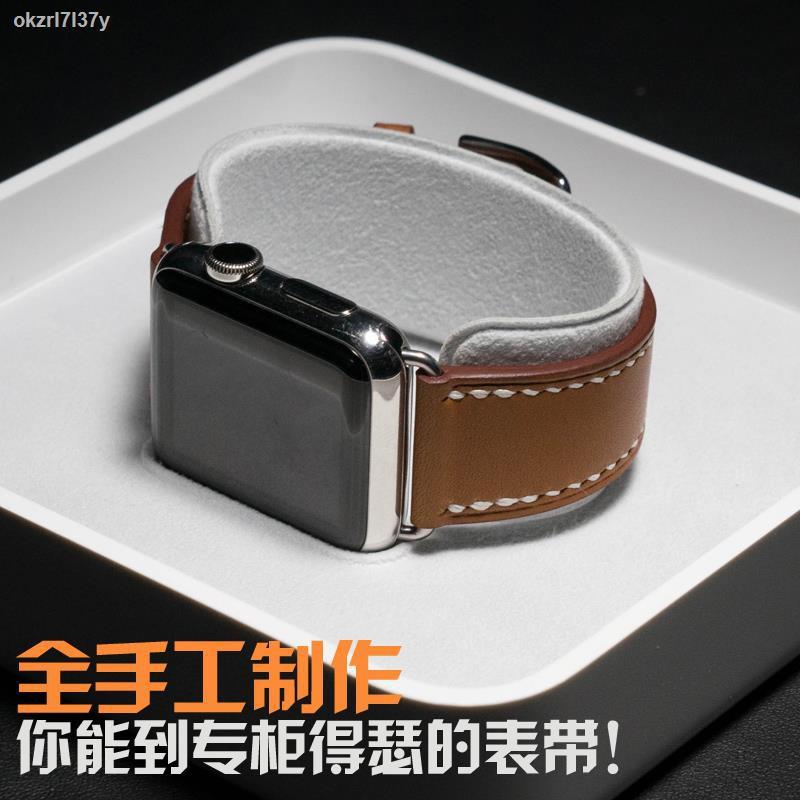 Apple watch accessories♨●☊สายนาฬิกาiwatch สายหนังทำมือ applewatch สายนาฬิกาสำหรับ Apple Series6/54/321
