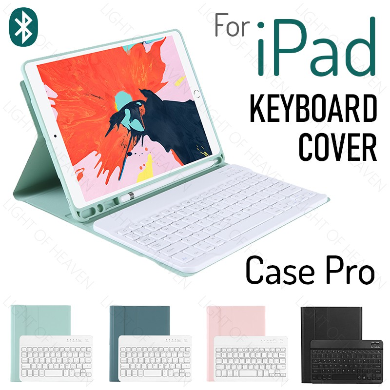 For iPad 10.2 2019 2018 2017 9.7 Air 3 2 Pro 10.5 11 2021 2020 silm case + bluetooth keyboard with apple pencil holder s