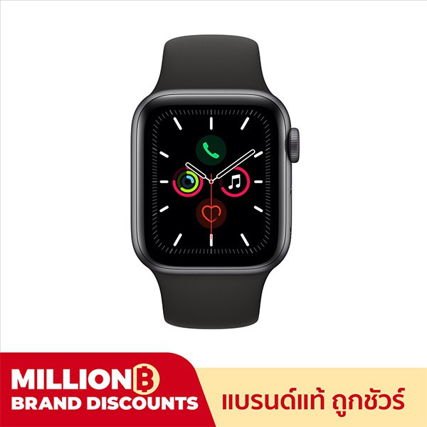 smartwatch Apple Watch Series 5 GPS Space Grey Aluminium Case with Black Sport Band smartwatch  สมาร์ทวอท์ช
