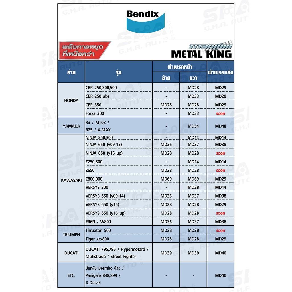 Bendix Metal King MD29 ผ้าดิสเบรคเกรดพรีเมี่ยม สำหรับใส่เบรคหลัง