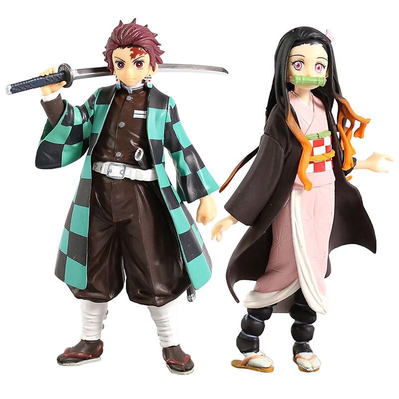 Demon Slayer Kimetsu No Yaiba Kamado Tanjirou / Nezuko PVC Figure Collectible Model Toy