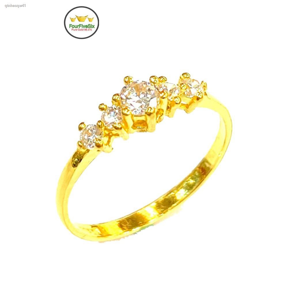 ราคาต่ำสุด✓♙™FFS แหวนทองครึ่งสลึง เพชรสวิสอิตาลี หนัก 1.9 กรัม ทองคำแท้96.5%