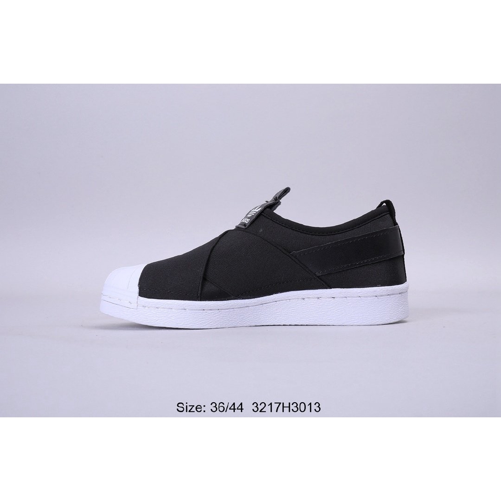 Incierto enviar Animado  Men's and women's couple models, Adidas black and white cross straps, a  pedal shell head sneakers, size 36-44 | Shopee Thailand