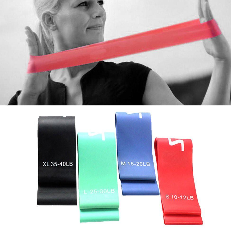 สายยางยืดออกกําลังกาย High Elastic Yoga Tensile Pull Rope Resistance Exercise Tension Loop