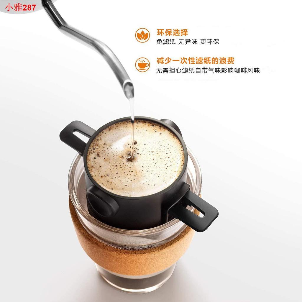 ✘♤ถ้วยกรองกาแฟแบบไม่ใช้กระดาษ, ที่กรองกาแฟสแตนเลส, ที่กรองพับได้, ถ้วยทำมือ, เครื่องชงกาแฟแบบพกพา