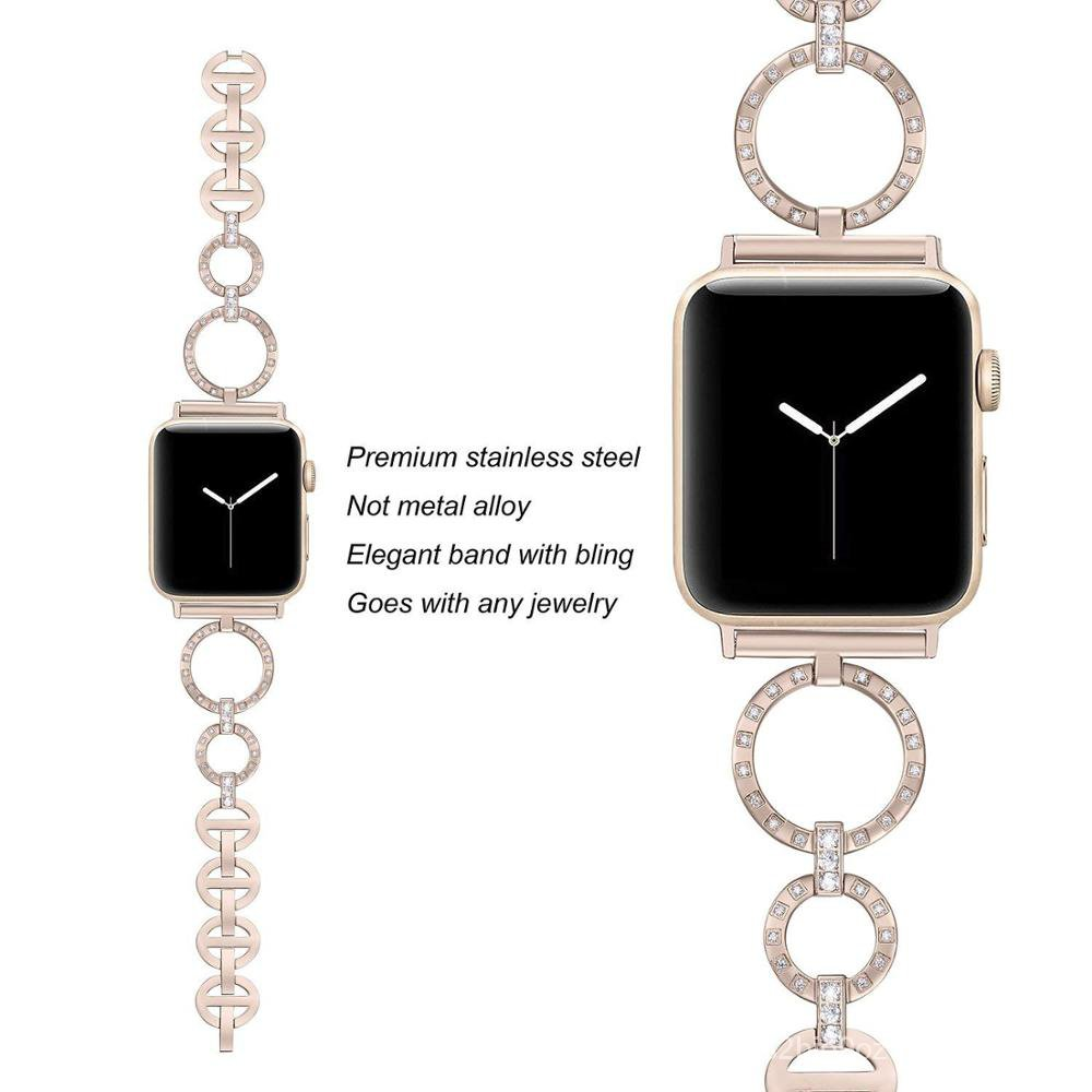 women Diamond band for Apple Watch strap 38mm 42mm iwatch band series 5 4 3 Replacement strap for apple watch band 6 44m