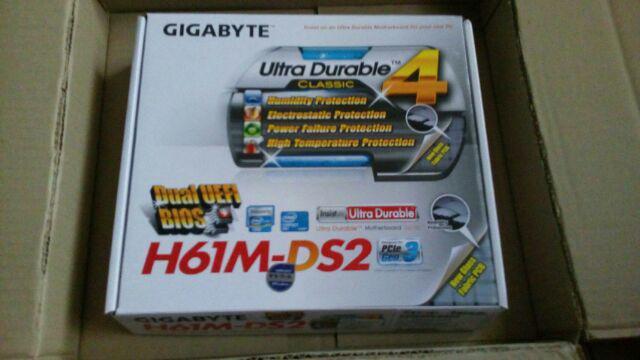 MAINBOARD (เมนบอร์ด) 1155 GIGABYTE GA-H61M-DS2 (REV 5 0