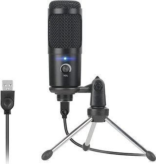 Professional Studio Microphone Usb Wired Condenser Karaoke Mic Computer Microphones Shock Mount+Foam Cap+Cable for Pc No