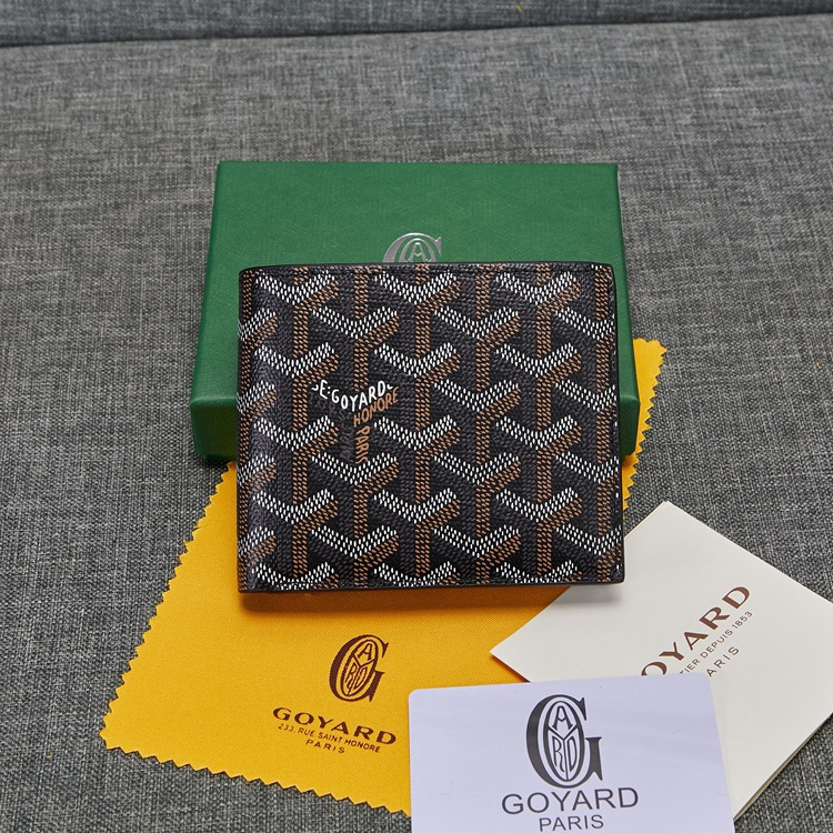 High Quality GOYARD Men's  and Women's Wallet Short Wallet Ori Wallet kcQa