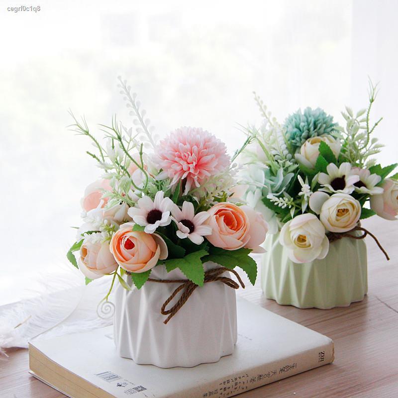 การจำลองพันธุ์ไม้อวบน้ำ▲♟ห้องนั่งเล่น ดอกไม้จำลองขนาดเล็กตกแต่งบ้านตกแต่งโต๊ะดอกไม้ปลอมขนาดเล็กตกแต่งนอร์ดิก ins ช่อดอกไ