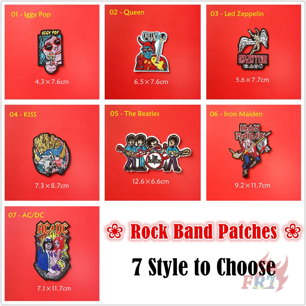 Music Band Embroidered Iron On Sew On Patch Badge For Clothes etc