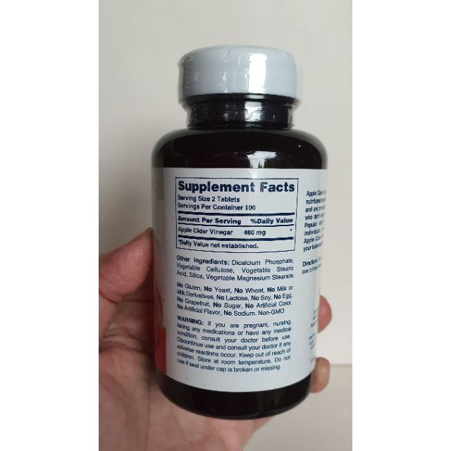 ♠☜Apple Cider Vinegar Tablet ACV แบบเม็ด