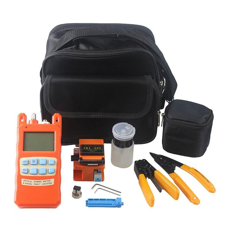 Fiber Optic FTTH Tool Kit SKL-60S Fiber Cleaver Optical Power Meter Tester 1MW