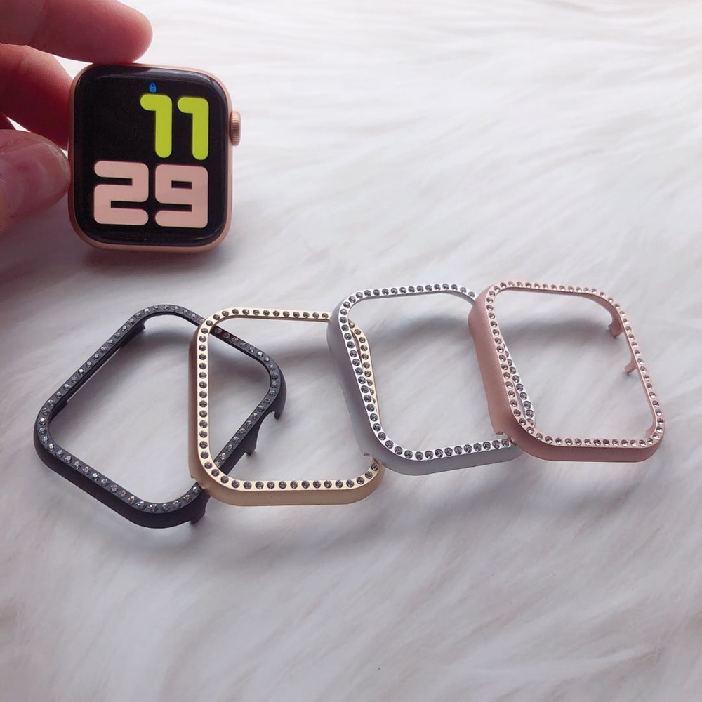 Diamonds cover for Apple Watch Series 6 se 5 4 3 2 1 38mm 42mm 40mm 44mm  iwatch case