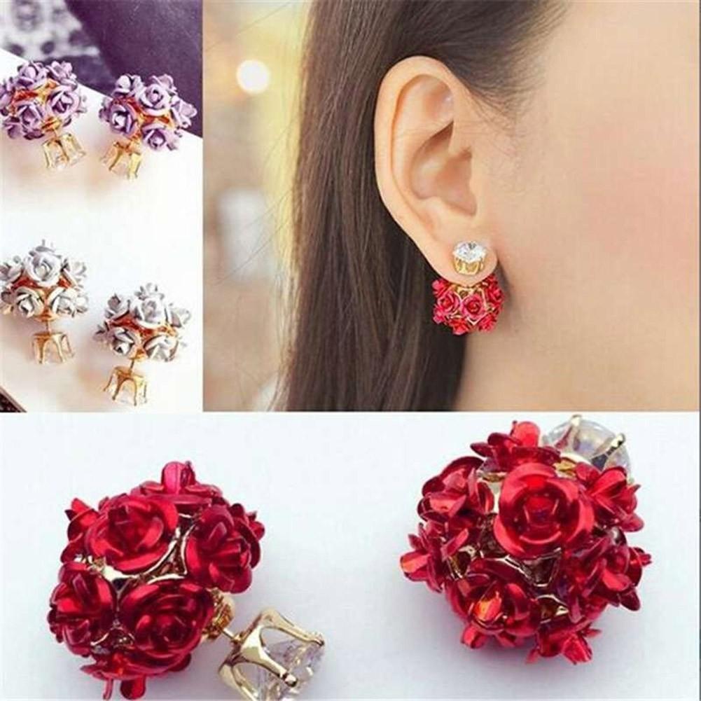 Charm Dandelion Flower Drop Earrings Fashion Women Hook Earrings Party Jewelry