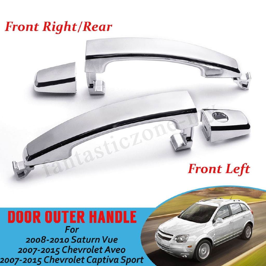 Right Passenger Black For Chevy Aveo Outside Door Handles Front Left Driver