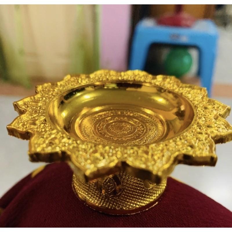 พานทอง พานเงิน พานจิ๋ว ราคาถูกที่สุด 16 บาท สีทอง 7 ซม