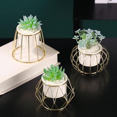นอร์ดิก INS ไม้กระถางขนาดเล็กจำลองไม้อวบน้ำตกแต่งบ้านสำนักงานเดสก์ท็อปของประดับดอกไม้ปลอม