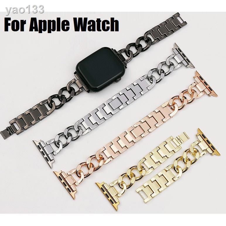 Luxury Chain สายนาฬิกา Apple Watch Straps เหล็กกล้าไร้สนิม สาย Applewatch Series 6 5 4 3 2 1, SE Stainless Steel สายนาฬ