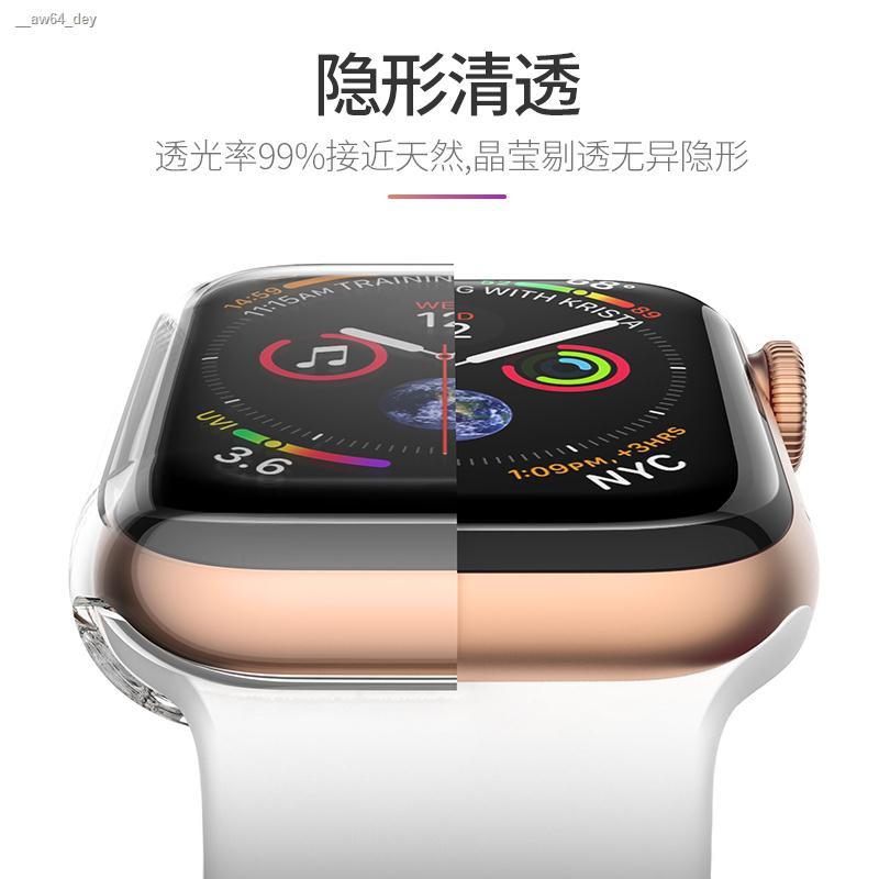 เคส plus♝✚Hyun Wear Apple Watch Cover iwatch4 5/3/2/1 Generation Electroplating Soft Silicone Full Applewatch Series4 บ