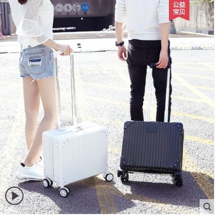 กระเป๋าเดินทางล้อลากขนาดเล็ก 14 นิ้ว 18 นิ้ว 20 นิ้วสําหรับผู้หญิง