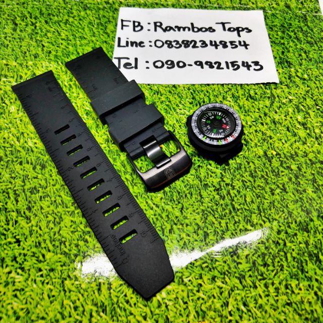 สาย applewatch แท้ สาย applewatch สายLUMINOX 24มิล ลายไม้บรรทัดมาพร้อมกับเข็มทิศ(สายเทียบนะครับไม่ใช่สายแท้)  ชำระเงินปล