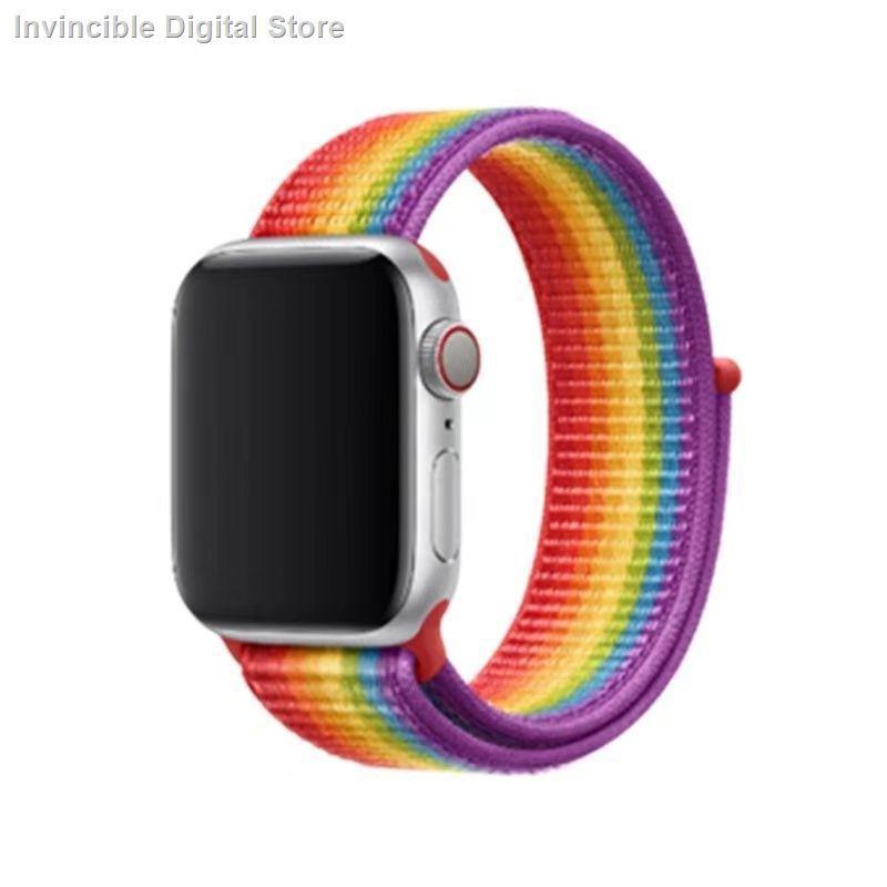【อุปกรณ์เสริมของ applewatch】☑✔สาย Apple Watch ไนลอนเหมาะสำหรับสาย Applewatch iwatch S6 / 5/4/3/2/1 SE