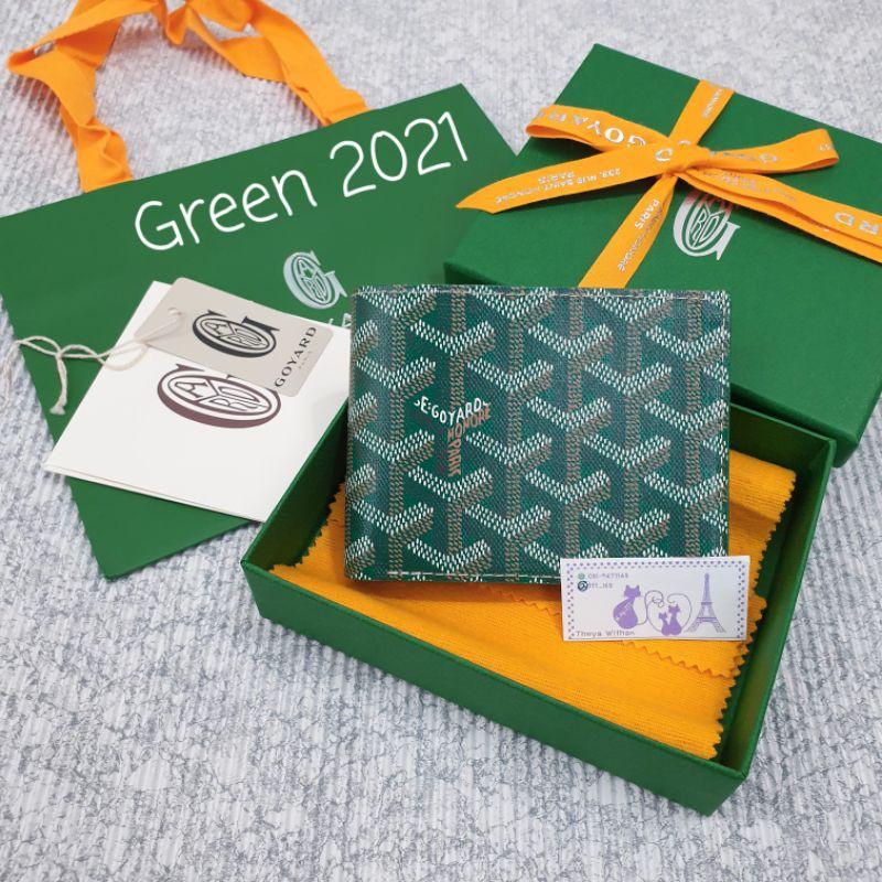 Goyard Men Wallet Victoire 8 cards In Green กระเป๋าตังสีเขียว 💕2021 💕ของแท้