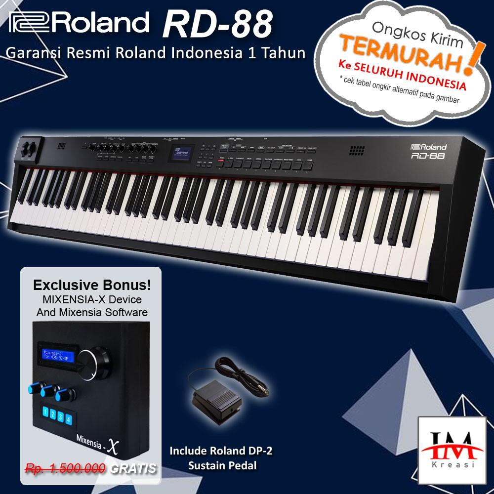 Roland Rd 88 / Rd88 Bundle Hardware Mixensia-x - เปียโนดิจิตอลสําหรับใช้บนเวที
