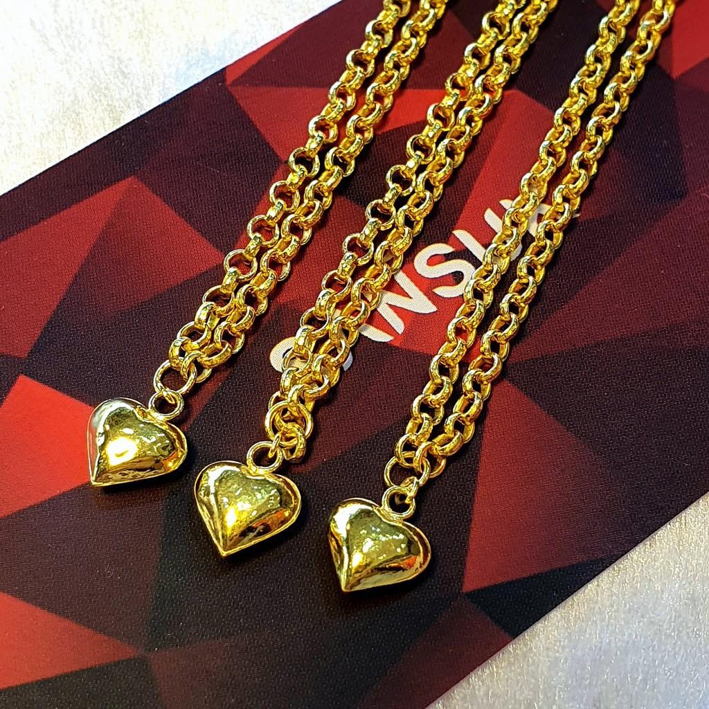 ราคาไม่แพงมาก✓✑▩สร้อยคอครึ่งสลึง สร้อยครึ่งสลึง จี้หัวใจ ทองแท้ 96.5% ขายได้จำนำได้ มีใบรับประกัน สร้อยคอทอง สร้อยคอทองแ