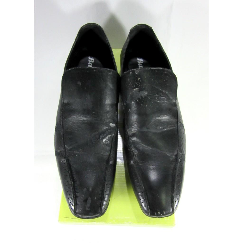 รองเท้า คัชชู หนังPU ยี่ห้อ BATA เบอร์ 44 พื้นแบน เดินสบาย (มือ2)